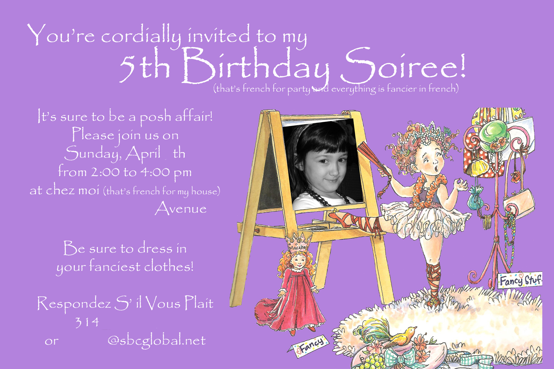 Ls 5th Birthday Invitation