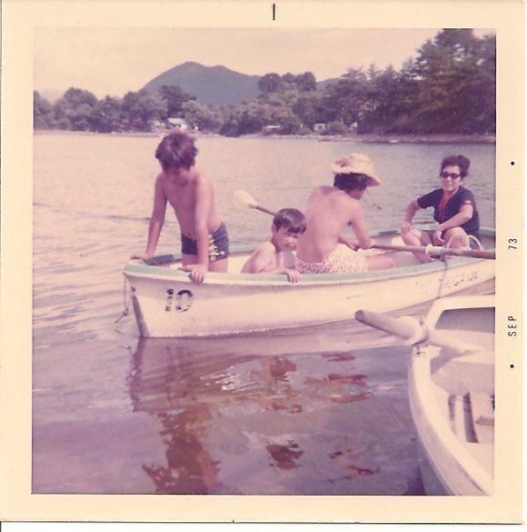 Grandma with her boys