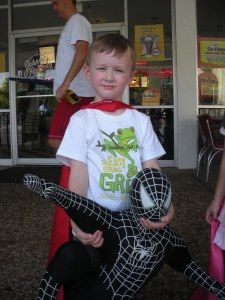 J and his spiderman